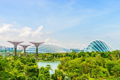 Blick auf Garden by the bay