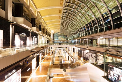 Shopping Mall von Marina Bay Sands - das Einkaufsparadies