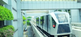 Beliebtes Fortbewegungsmittel - Der Changi Airport Skytrain in Singapur