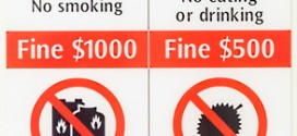 Typisches Hinweisschild in der Metro von Singapur - man sollte sich strikt daran halten...
