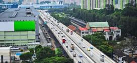 Einer der wenigen Highways von Singapur
