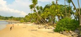 Der Strand von Sentosa Island in Singapur