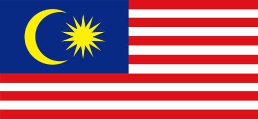 Die Flagge vom direkten Nachbarland: Malaysia